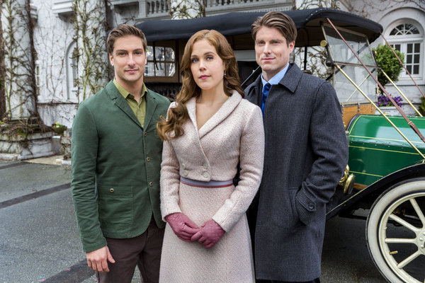 WHEN CALLS THE HEART - HEART AND HOME  Elizabeth and Jack receive upsetting news from their families in Hamilton that could tear them apart. Meanwhile, Abigail tries to find forgiveness in her heart for Bill Avery as Lee enlists Rosemary's help to fight Gowen and keep Hope Valley from falling apart.   Photo: Daniel Lissing, Erin Krakow, Marcus Rosner  Photo Credit: Copyright 2013 Crown Media United States, LLC/Photographer: Eike Schroter