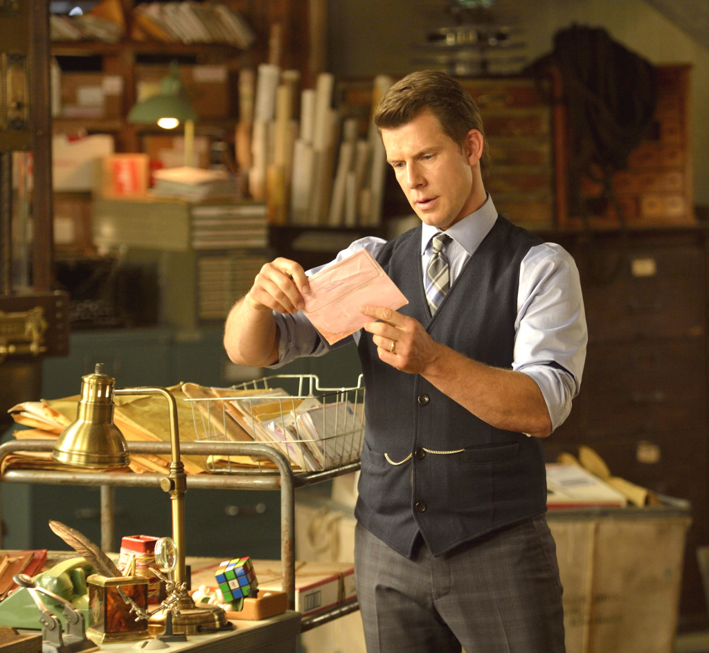 """Signed, Sealed, Delivered"" tells the inspiring story of a group of postal detectives whose mission is to deliver letters and packages from the past, which arrive miraculously when they are needed most.  Photo: Eric Mabius"