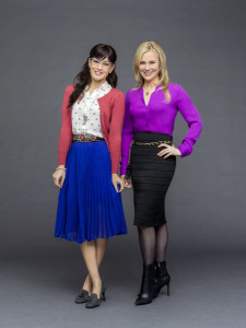 SIGNED, SEALED, DELIVERED - The Postables, Oliver, Shane, Rita and Norman, explore the mystery of true love as they deliver divorce papers to one couple the same day Oliver's missing wife reappears. Photo: Crystal Lowe, Kristin Booth Photo Credit: Copyright 2015 Crown Media United States LLC/Photographer: Bettina Strauss