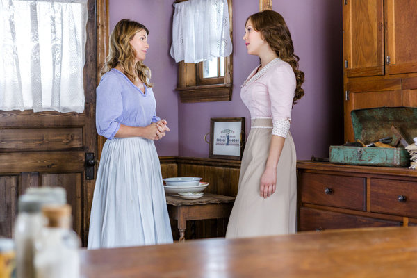 WHEN CALLS THE HEART - WITH ALL MY HEART Elizabeth and Jack face a life-threatening experience together and finally discover the truth about what has been keeping them apart. Later, all of Hope Valley witnesses a shocking arrest and an unexpected proposal. Photo: Lori Loughlin, Erin Krakow Photo Credit: Copyright 2013 Crown Media United States, LLC/Photographer: Eike Schroter