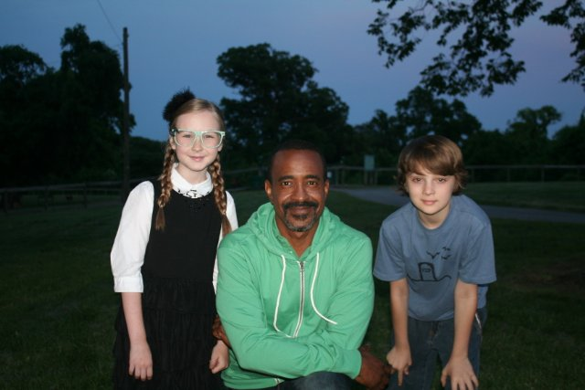 Toby Nichols as Lucas Simons, Tim Meadows as Chris Brighton & Meyrick Murphy as Kimberly