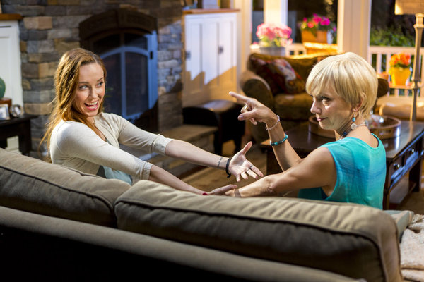 CEDAR COVE - A HELPING HAND - After Jack's proposal to move in together, Olivia is consumed with doubts about their future, especially as she begins spending more time after hours with her new co- worker Paul. Meanwhile, Grace welcomes home daughter Maryellen, but its clear Maryellen is keeping some big news from her. And as Justine scrambles to find a job in time to move out, she gets some unexpected-and possibly unwelcome-help from her Uncle Will. Then, when Jack sets up a grand gesture to win back Olivia's trust, her overtime with Paul puts their relationship in jeopardy once again.  Photo: Elyse Levesque, Teryl Rothery  Credit: Copyright 2015 Crown Media United States, LLC/Photographer: Eike Schroter