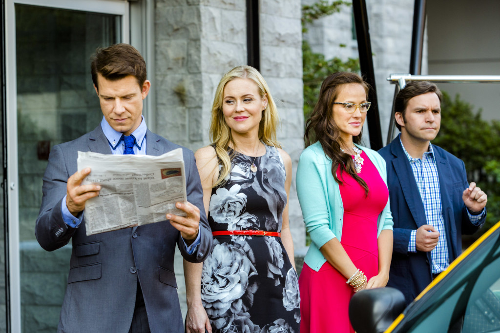Eric Mabius, Kristin Booth, Crystal Lowe, Geoff Gustafson Credit: Copyright 2015 Crown Media United States LLC/Photographer: Bettina Strauss