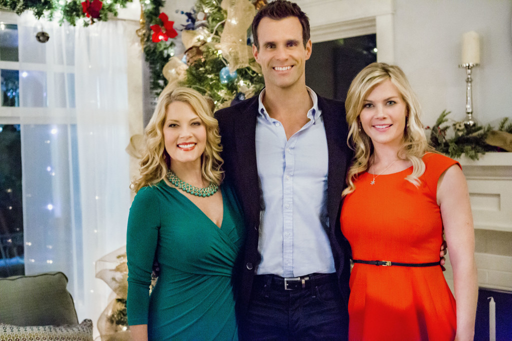 Photo (Left to Right): Barbara Niven, Cameron Mathison, Alison Sweeney Credit: Copyright 2015 Crown Media United States LLC/Photographer: Bettina Strauss