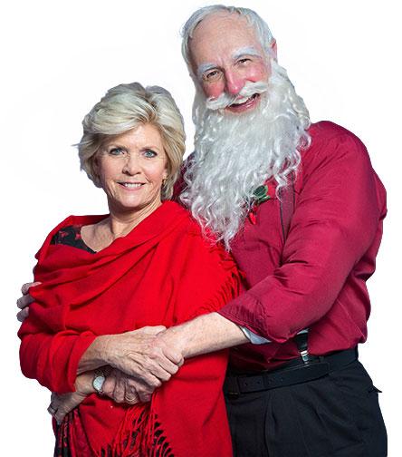 Meredith Baxter (Mrs. Claus), Michael Gross (Santa Claus)