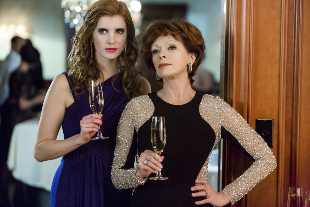 Courtney Richter (Felicity), Frances Fisher Credit: Copyright 2015 Crown Media United States, LLC/Photographer: Bettina Strauss