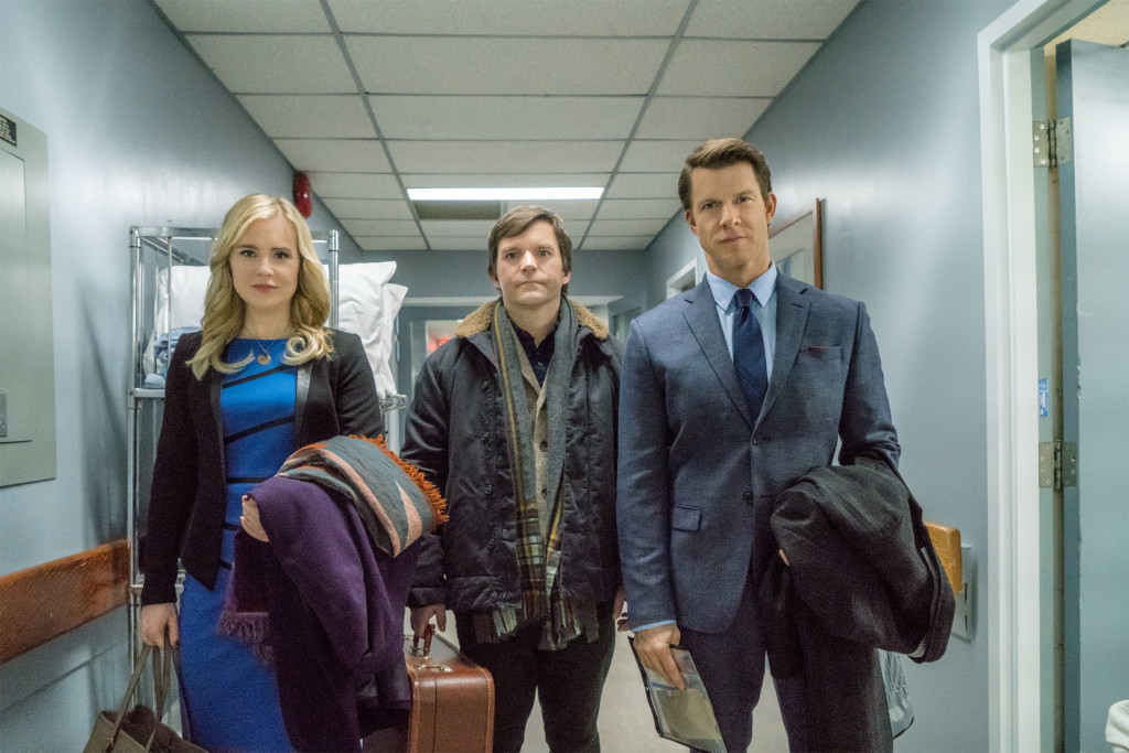 Kristin Booth (Shane), Geoff Gustafson (Norman), Eric Mabius (Oliver) Credit: Copyright 2016 Crown Media United States LLC/Photographer: Duane Prentice