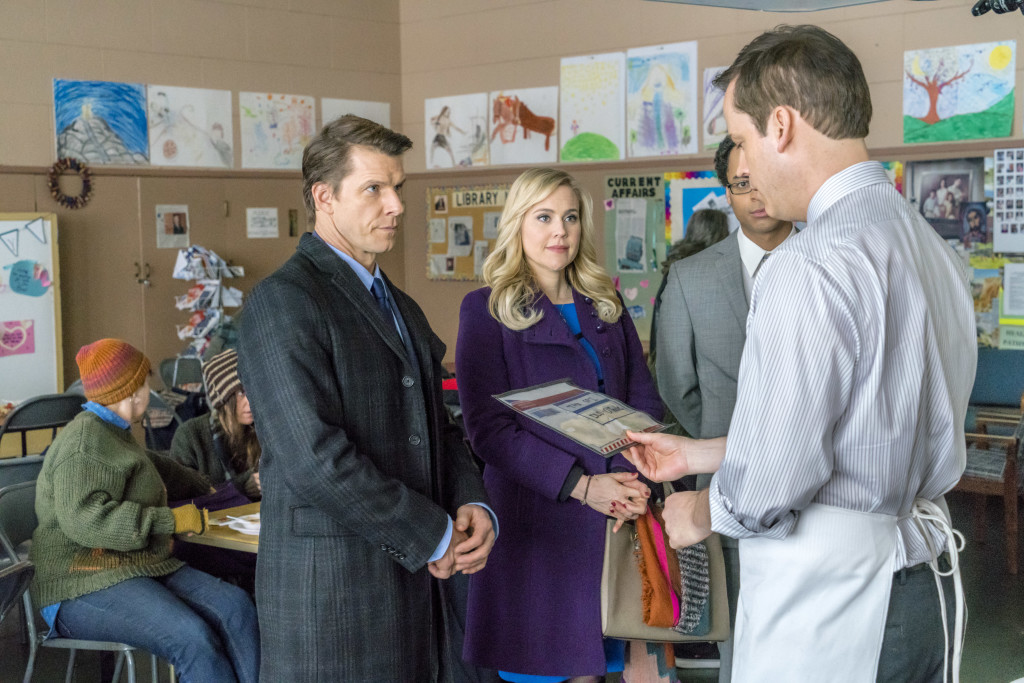 Eric Mabius (Oliver), Kristin Booth (Shane), Aaron Craven (Governor Ryan) Credit: Copyright 2016 Crown Media United States LLC/Photographer: Duane Prentice