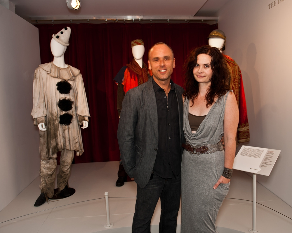 Luis Sequeira, Costume Designer and former CAFTCAD President and I at CAFTCAD's Otherwordly: The Art of Canadian Costume Design Exhibit at the TIFF Bell Lightbox in 2011 during the Toronto International Film Festival.