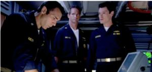 "Acting in ""U.S.S. Poseidon: Phantom Below"" aka ""Tides of War"". (left to right Adrian Paul, Matt Battaglia, Mark Sanderson)"