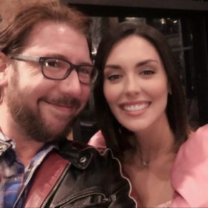 On set with Taylor Cole