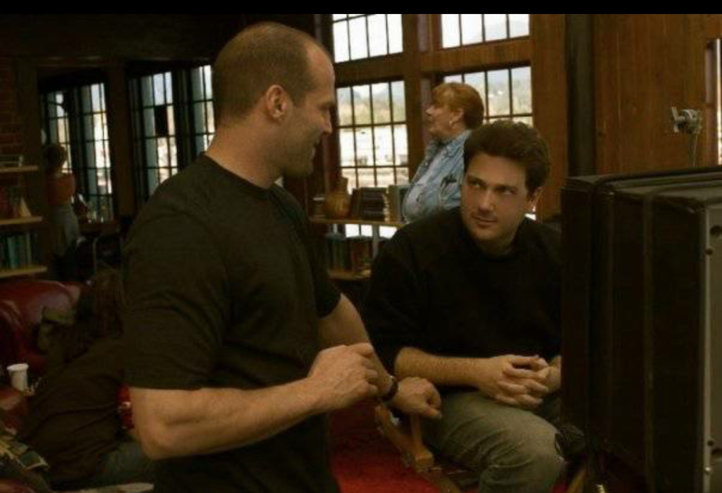 Jason Statham and Tony Giglio (I) on set of CHAOS