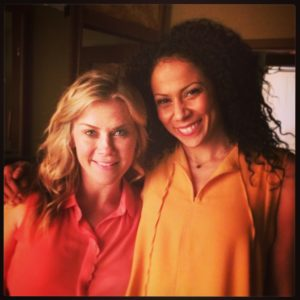 Love on the Air: Alison Sweeney and Crystal Balint on set