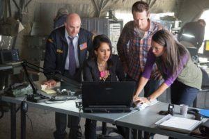 Ring of Fire: Set still with Brian Markinson, Michael Vartan & Agam Darshi