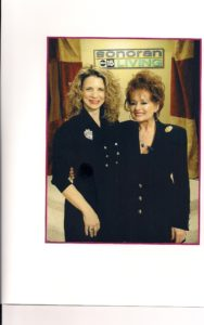 With Tammy Faye Baker on ABC TV as The Savvy Chic Shopper